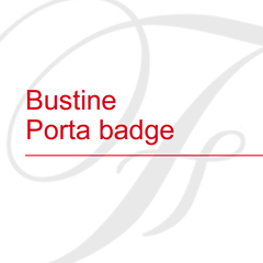 Bustine Porta badge